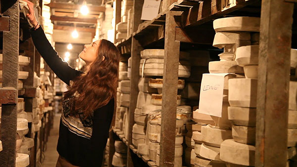 The mould store at Middleport Pottery contains more than 19,000 casts.