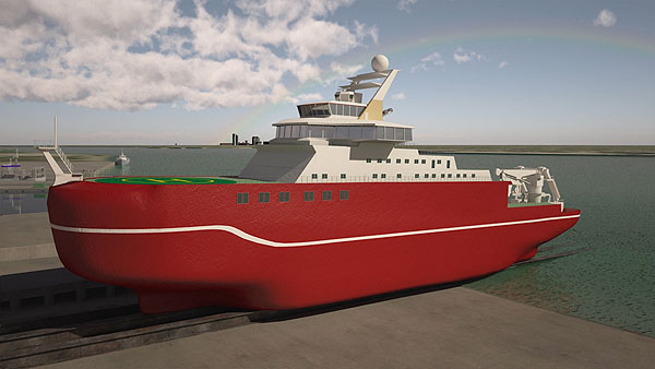 The ship will be home for up to 90 scientists and support staff.